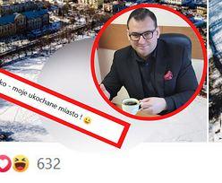 """Gigantyczny napis """"J…ć PiS"""" w Skarżysku. Zdjęcie hitem internetu"""