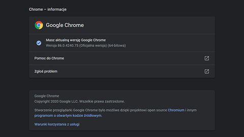 Google Chrome 86 dostępny do pobrania. Są nowości z zakresu bezpieczeństwa