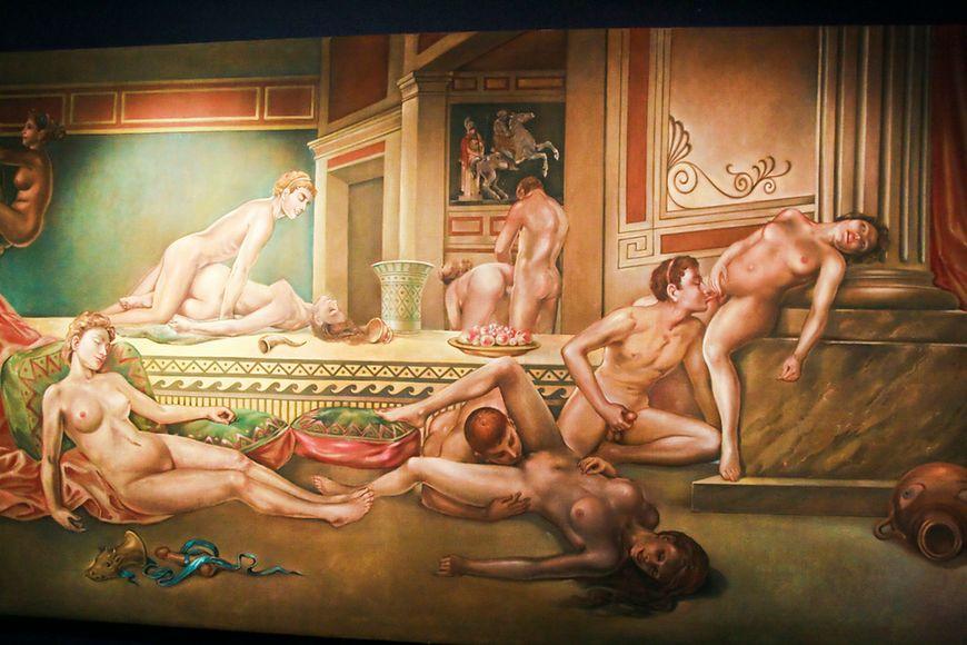 Muzeum seksu - antyczna orgia na obrazie