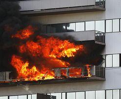 Pożar wieżowca. Dramatyczne sceny w Los Angeles