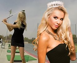 Była miss dowodem, że w golfa grają też modelki bikini