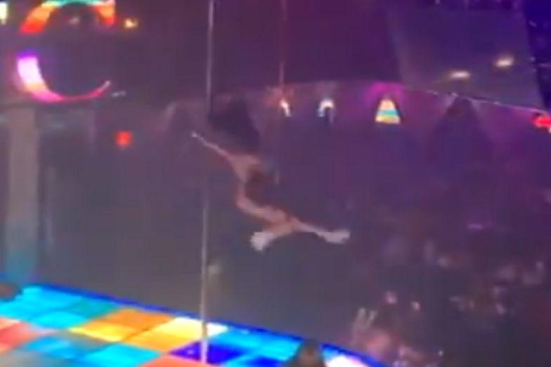 USA. Striptizerka spadła z 4-metrowej rury do tańca