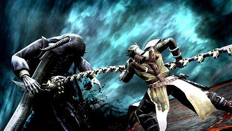 Kilka obrazków z dema Dante`s Inferno oraz okładka w wersji na 360 i PSP