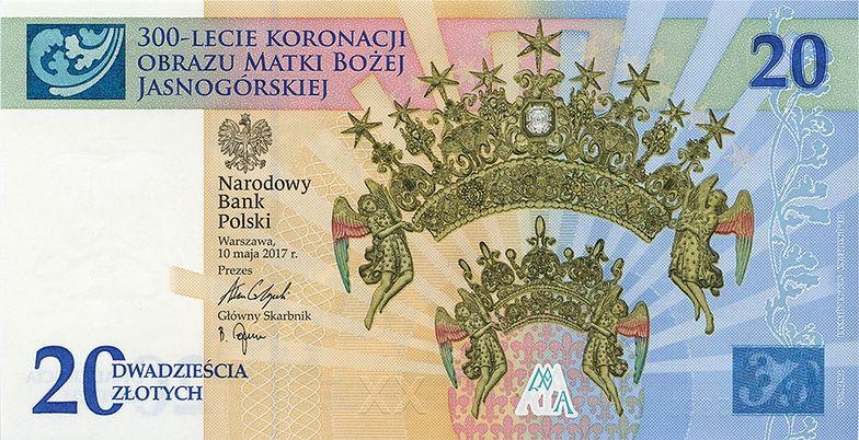 Banknot upamiętniający 300-lecie koronacji Obrazu Matki Bożej Jasnogórskiej