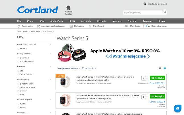 Cortland przyciąga coraz lepszymi ofertami oraz mnóstwem akcesoriów