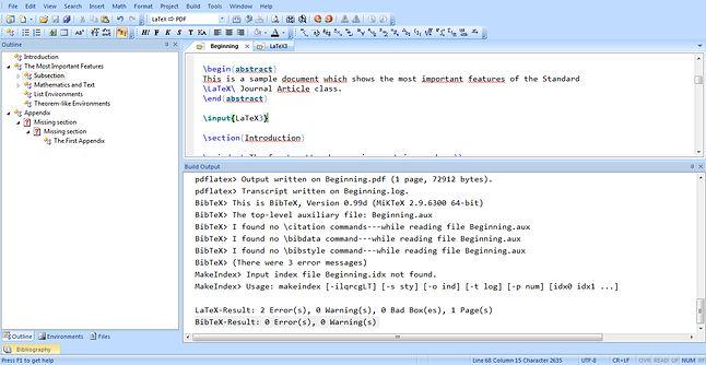 Wstawianie \input oraz cała lista procesów (i błędów) związanych z kompilacją.