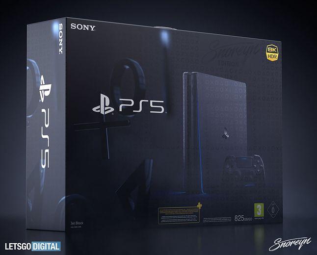 Artystyczna wizja tego, jak mogłoby wyglądać PlayStation 5, fot. Snoreyn/LetsGoDigital
