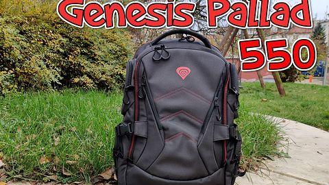 Genesis Pallad 550 - nowoczesny wygląd, zwarta konstrukcja i więcej kieszonek w plecaku dla gracza