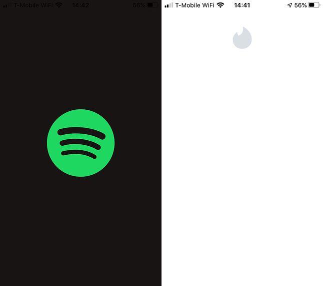Spotify i Tinder wyglądają dziś tak (fot. Kamil Dudek)