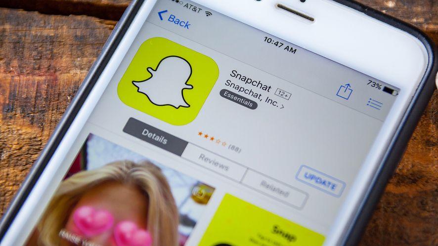 Snapchat w App Store z depositphotos