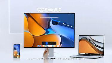 Dwa monitory Huawei. Jest na co czekać - Monitor Huawei MateView ze smartfonem i notebookiem