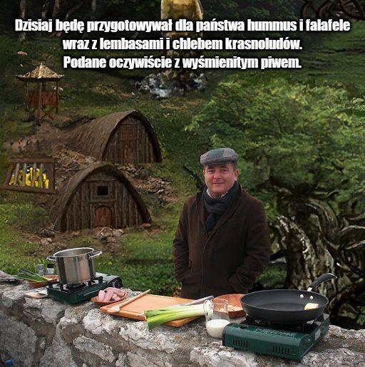 Robert Makłowicz, jako nadworny kucharz w Bastionie