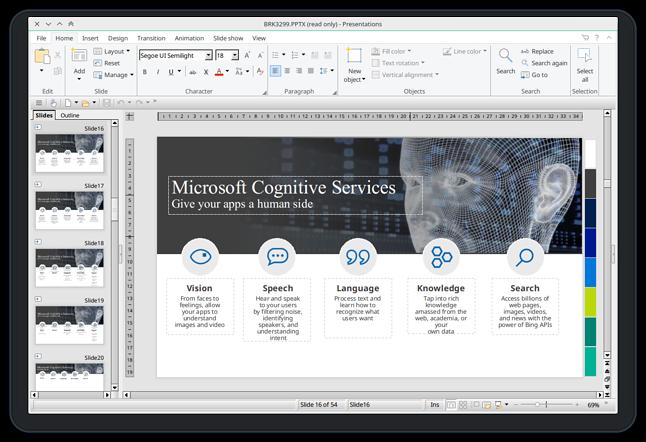 Prezentacja Microsoftu bezbłędnie otworzona we FreeOffice Presentations