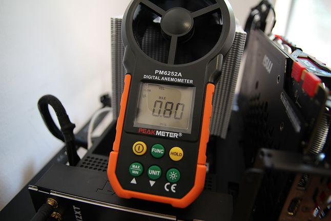 Przepływ powietrza przy 50% RPM.