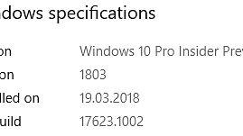 Kolejna niewiele wnosząca kompilacja z gałęzi Redstone 5, czyli Windows 10 w odsłonie o numerze 17623