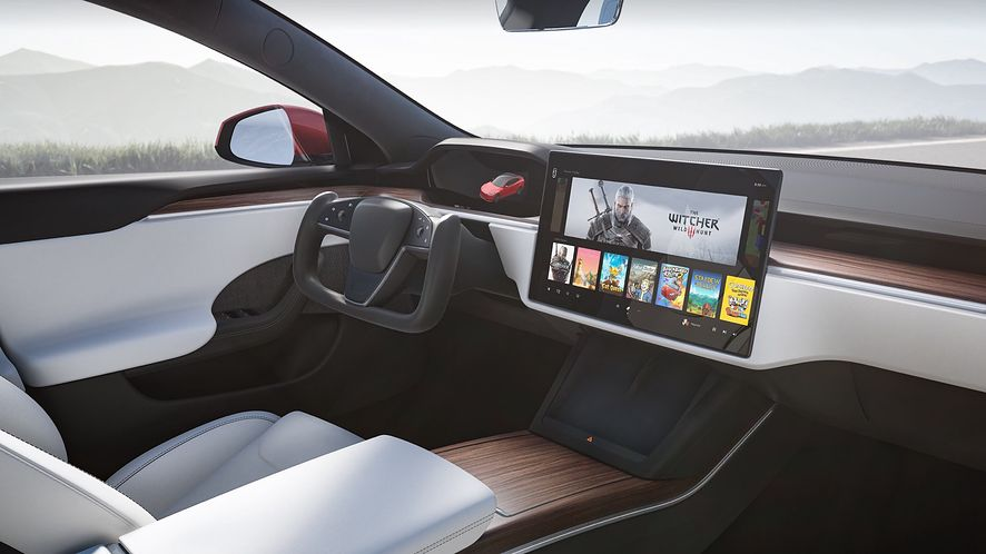 Tesla Model S - Wiedźmin 3
