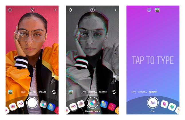 Aparat w Instagramie i tworzenie efektów