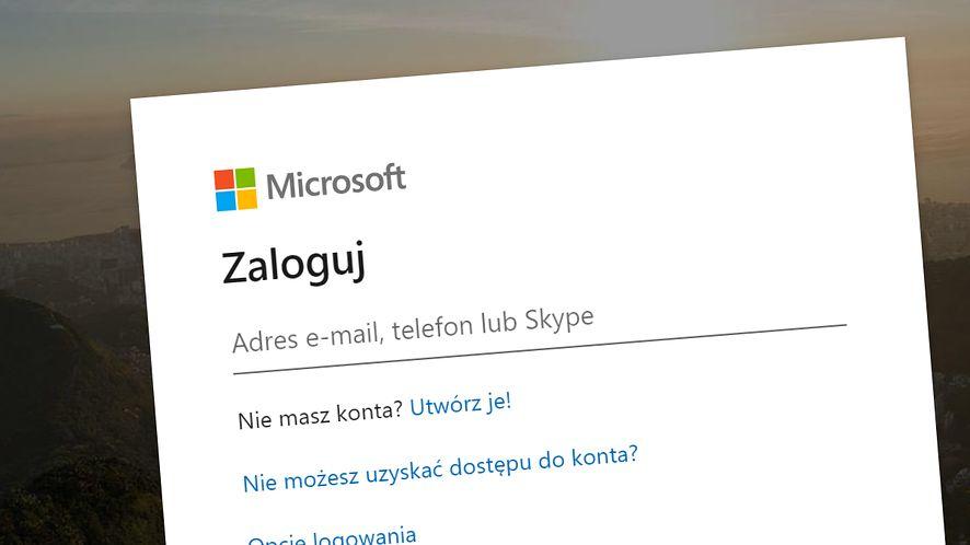 Microsoft musiał naprawić swój system logowania, fot. Oskar Ziomek