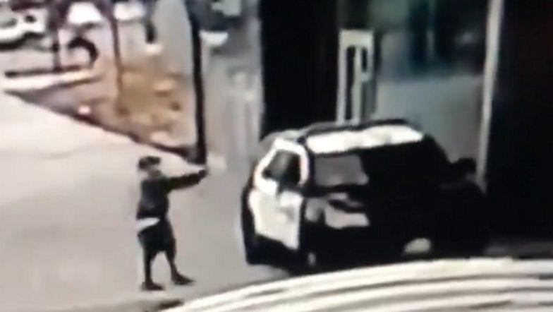Zasadzka w USA. Policjanci walczą o życie. Pokazano nagranie