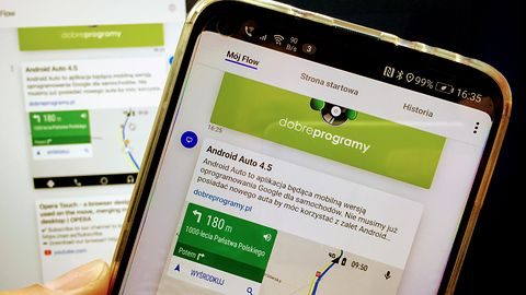 Android odbierze pliki z komputera. Prześlesz je przez Operę do Opery Touch