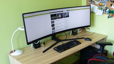 Samsung C49J89 — ultra panoramiczny monitor dla szerokich biurek - a na DP wciąż ramki