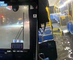 Nowy Jork pod wodą. Opublikowano dramatyczne nagranie z autobusu