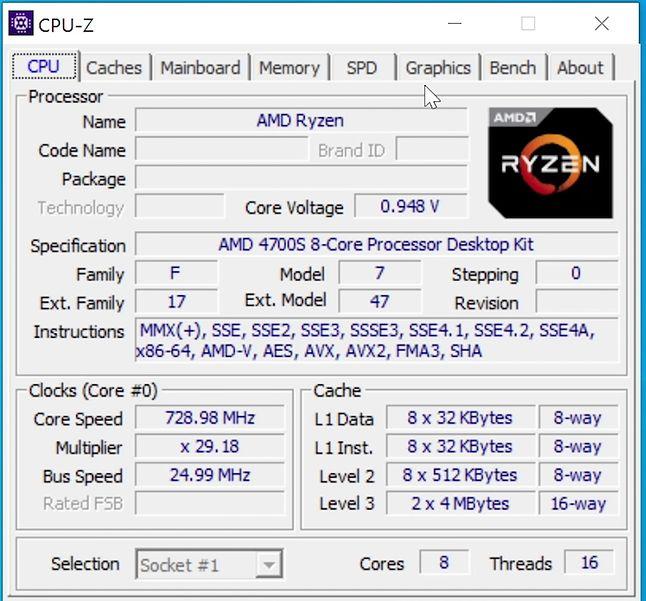Procesor obsługuje najnowsze instrukcje AVX2, ale brakuje AVX-512.