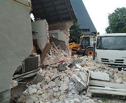 Katastrofa budowlana w Popowie. Runęła ściana domu. W środku był człowiek