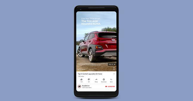 Pierwsze pionowe reklamy ma już do zaoferowania Hyundai. Źródło: The Drum, YouTube.