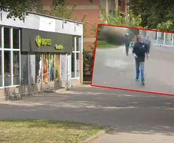 Wstrząsający atak. Pracownik Carrefour Express rzucił się na mężczyznę