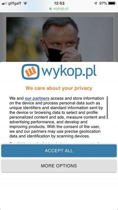 Wykop.pl szanuje Twoją prywatność