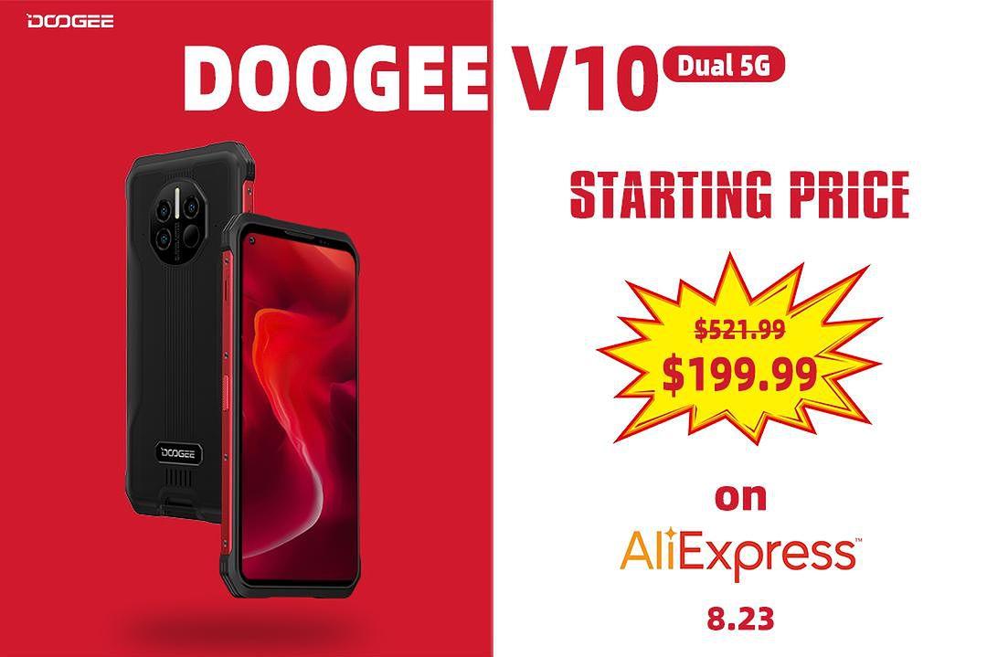 DOOGEE V10 23 sierpnia nawet 60% taniej!