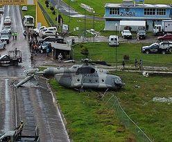 Wojskowy helikopter runął na ziemię. Przerażające nagranie z Meksyku