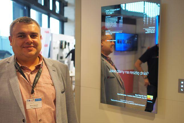 Futurystyczne lustro współpracujące z systemem Ampio prezentował integrator SmartBMS