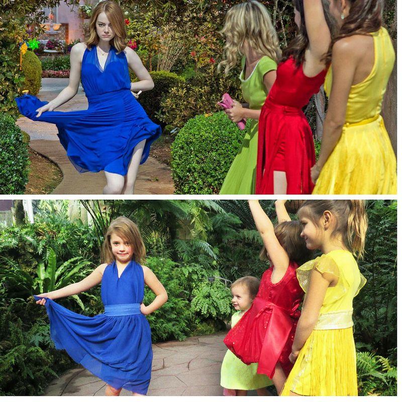 """Scena z musicalu """"La La Land"""" sprawiła, że dziewczynki poczuły się jak gwiazdy"""