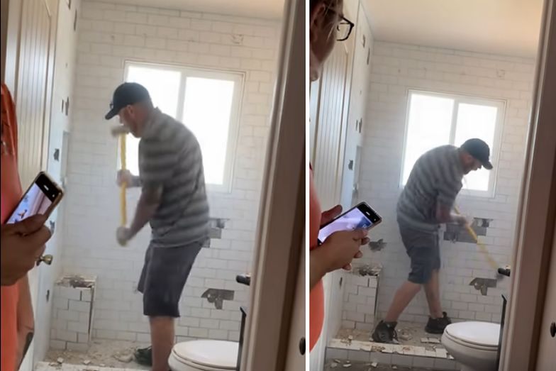 Nie zapłaciła mu za remont łazienki. Odwiedził ją z młotem w ręku