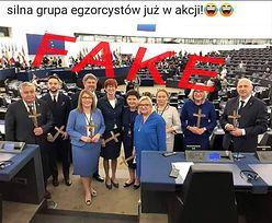 """Fotomontaż z europosłami PiS obiega internet. """"Krzyżowcy"""" okazali się fejkiem"""