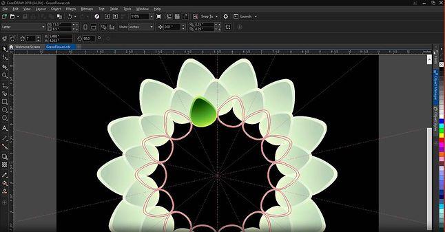 Rysowanie symetryczne w CorelDRAW Graphics Suite 2018
