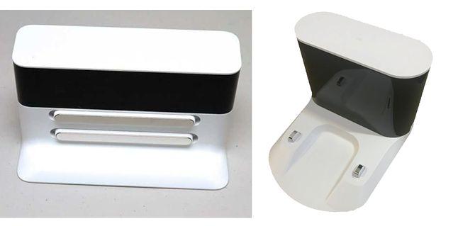 Wersja pierwsza stacji dokowania po lewej, nowa wersja po prawej