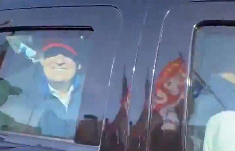 Tłum oszalał. Trump pojawił się na proteście wyborczym