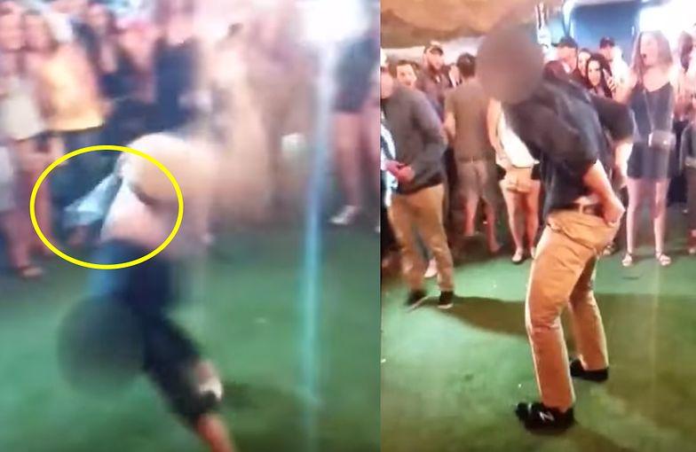 Agent FBI zrobił salto na imprezie. Wypadł mu pistolet. Gdy go podnosił, ranił mężczyznę