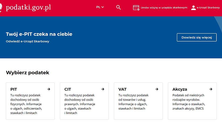 Twój e-PIT czeka w sieci, źródło: podatki.gov.pl