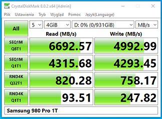 Dysk kompatybilny z PCIe Gen4.