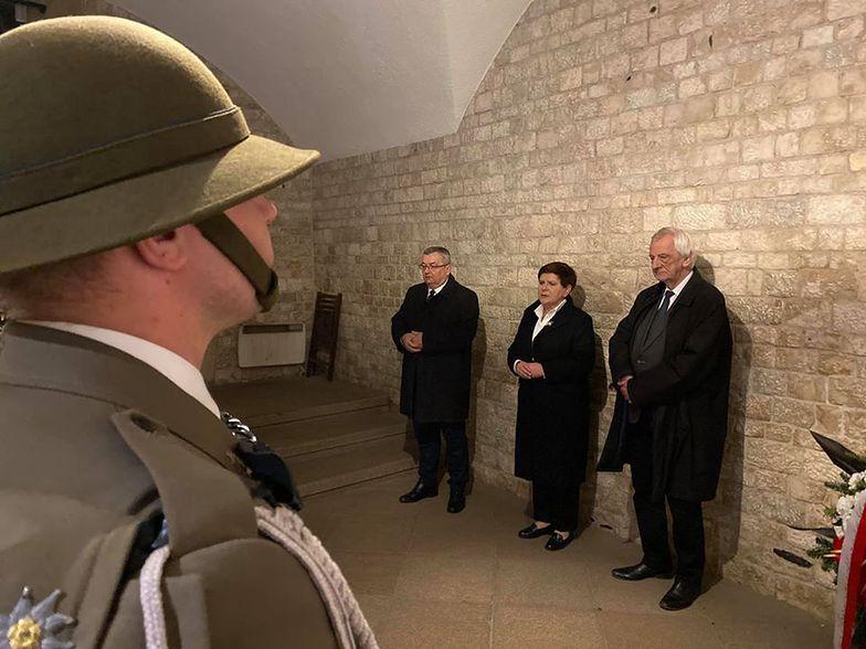 Beata Szydło, Ryszard Terlecki i Andrzej Adamczyk na Wawelu