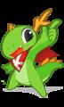 Konqi, jest oficjalną maskotką środowiska graficznego