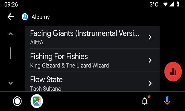 Pełna lista albumów w odtwarzaczu muzyki? Niestety nie zawsze.