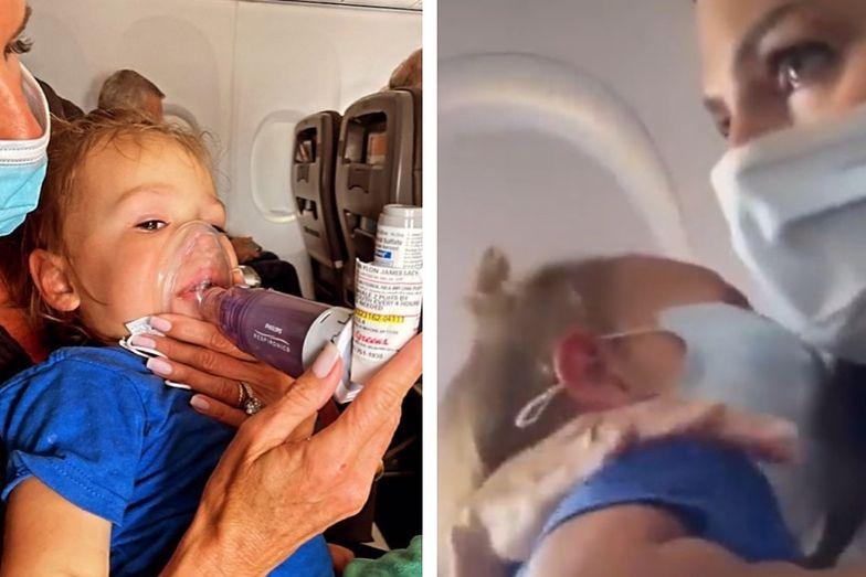 Chore na astmę 2-letnie dziecko wyrzucone z samolotu. Przez brak maseczki