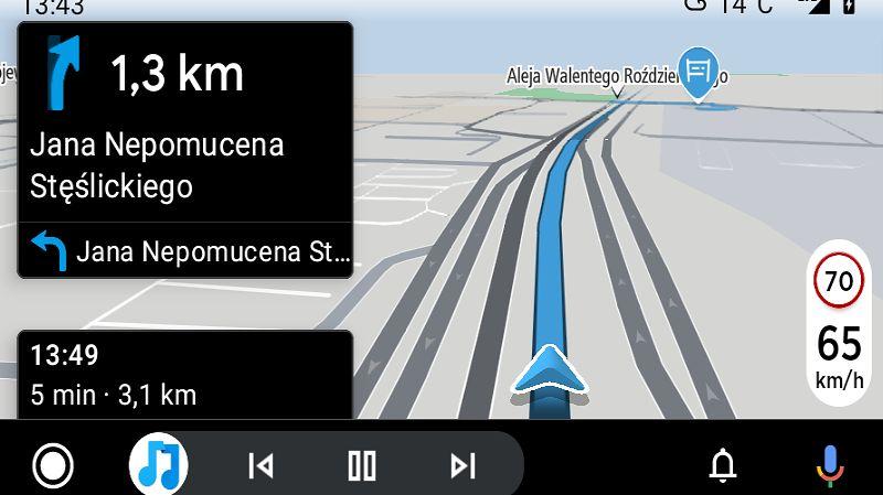 TomTom AmiGO w Androidzie Auto