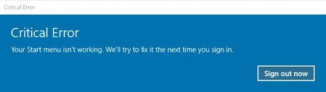 Problem z Menu Start po aktualizacji KB4517389, źródło: Windows Latest.