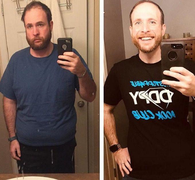 Kenny Dunn w ramach terapii pokazał jak rzucenie alkoholu zmieniło jego wygląd
